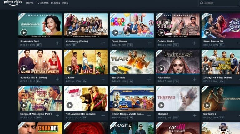 watch movies Bollywood online