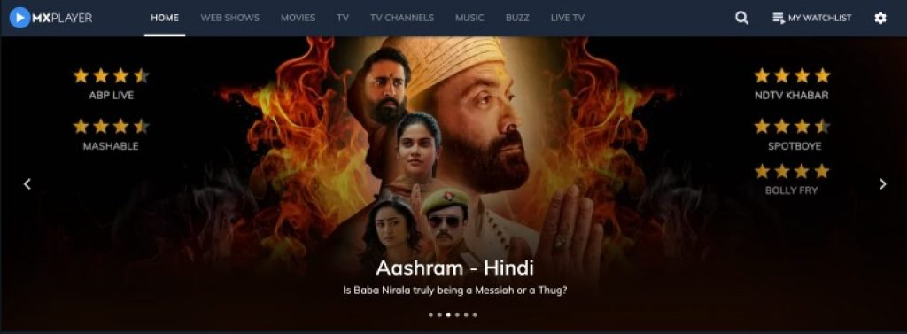 mx player watch movies bollywood online