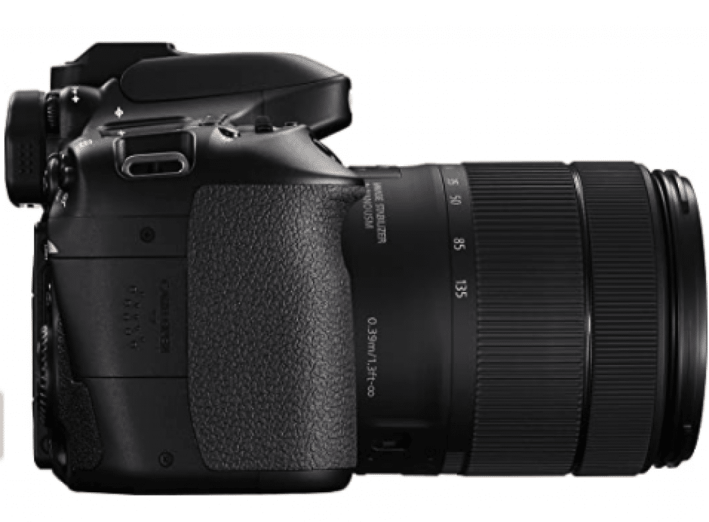 Canon EOS 80D 24.2MP side look