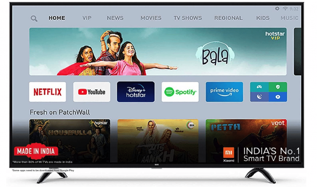 Mi 55 Inches 4K Android Smart LED TV 4X|L55M5-5XIN