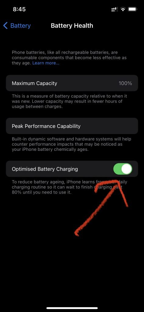 best settings for ios 15