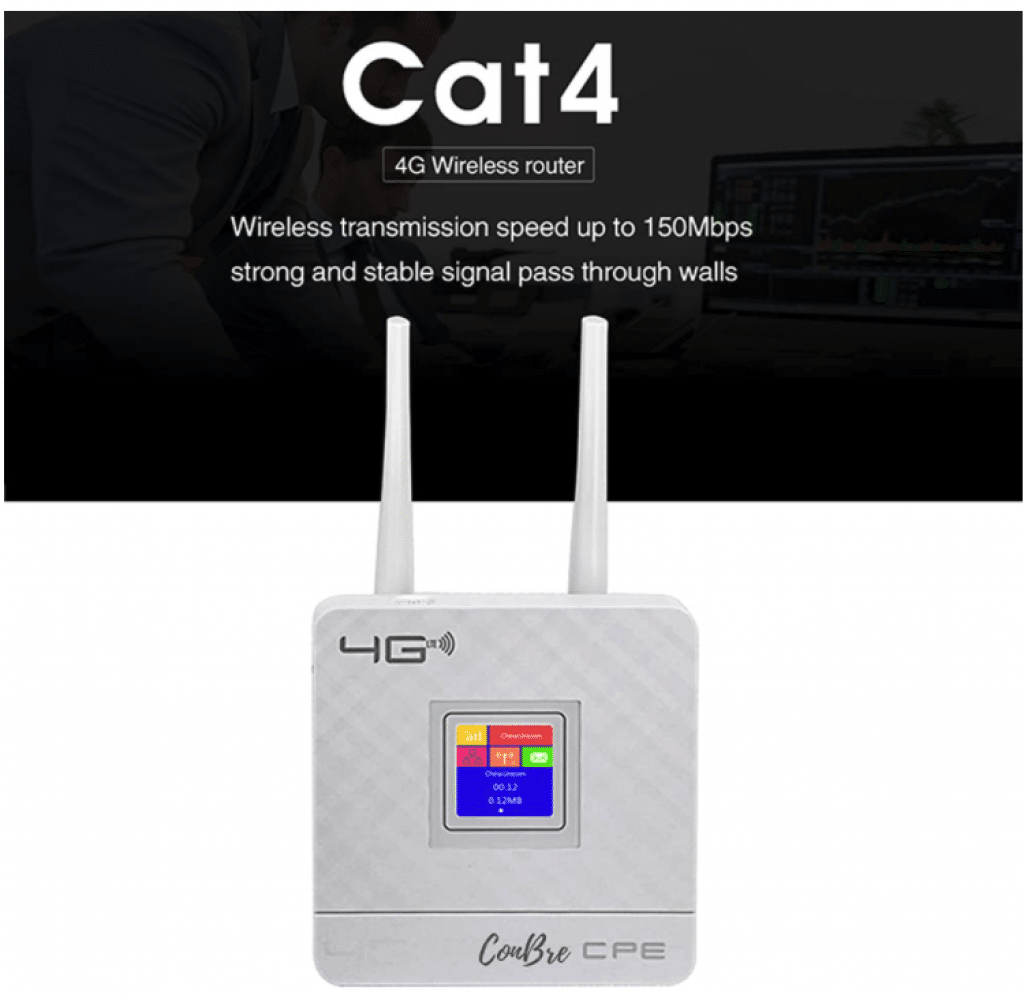 Conbre CPE MT-300N 4G WiFi Router with Sim Card Slot