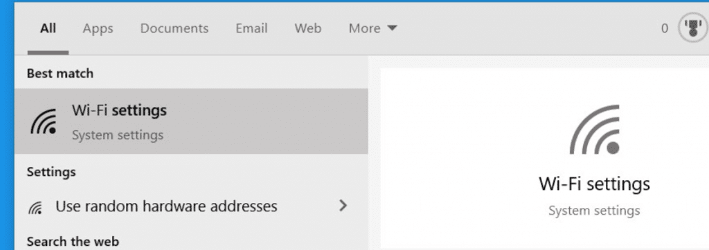 How to find WiFi password in windows 10