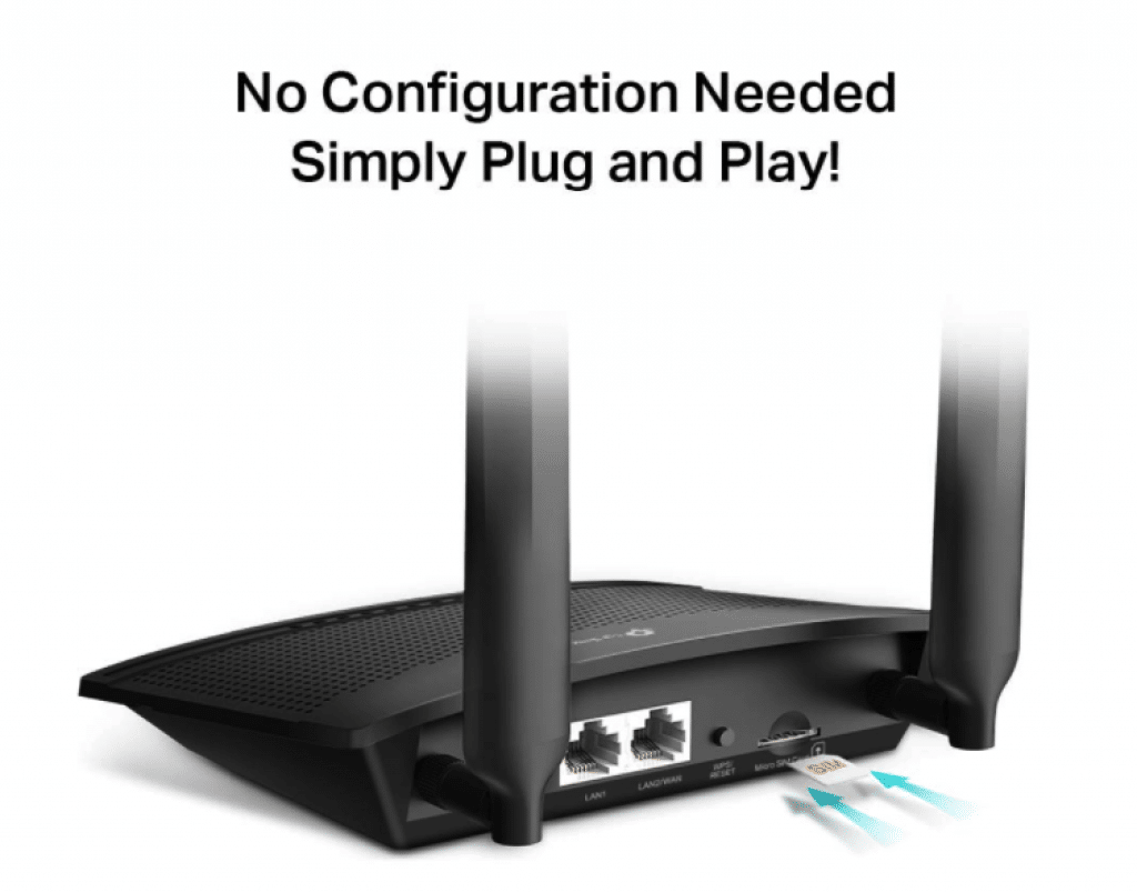 TP-Link TL-MR100 4G WiFi Router with Sim Card Slot